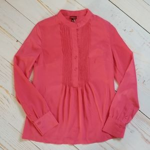 Merona Coral Pink Pintuck Blouse